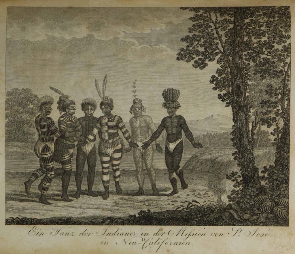 LANGSDORFF Ein Tanz der Indianer in der Mission von St