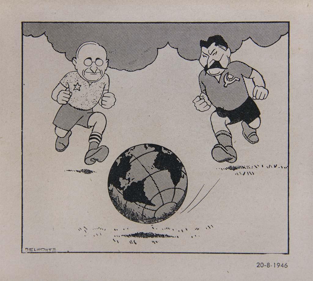 Harry Truman, presidente dos Estados Unidos entre 1945 e 1953, e Stalin.