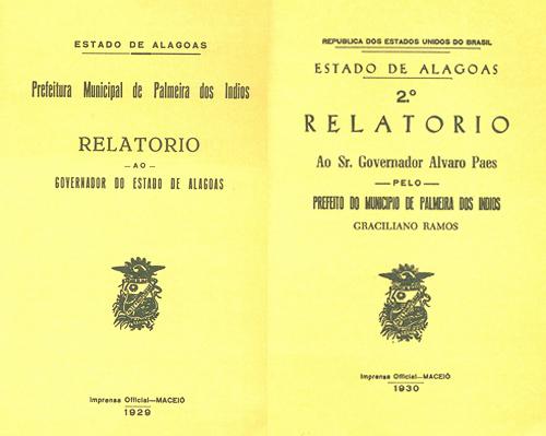 Relatórios ao Governador do Estado de Alagoas (1929, 1930)